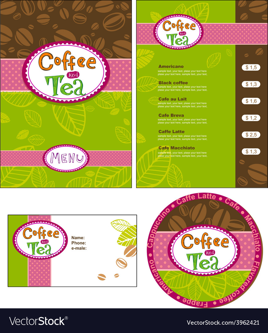 Corporate style for cafe or shop vector | Price: 3 Credit (USD $3)