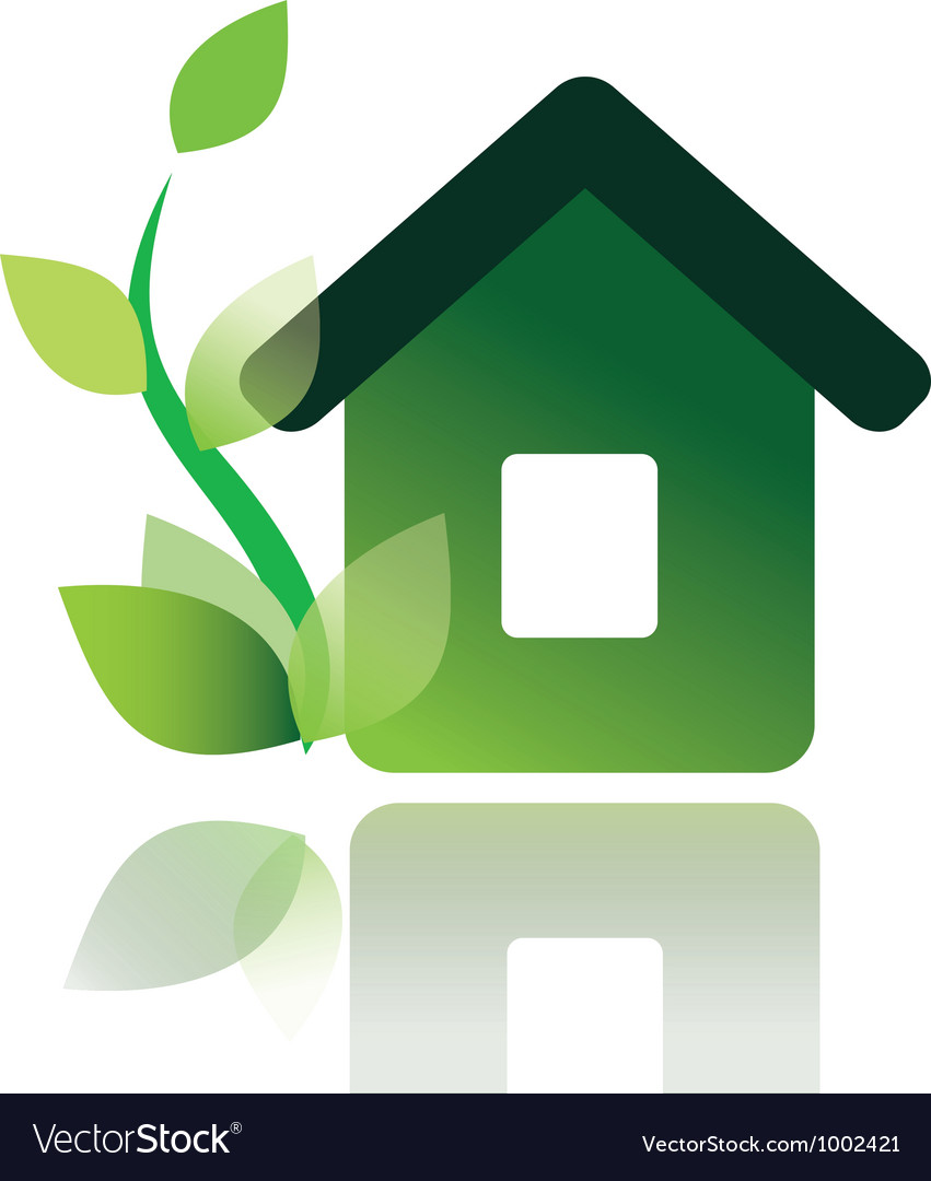 Eco home icon isolated vector | Price: 1 Credit (USD $1)
