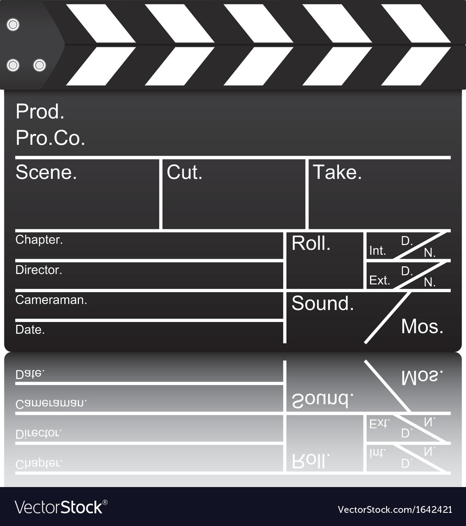 Film slate vector | Price: 1 Credit (USD $1)