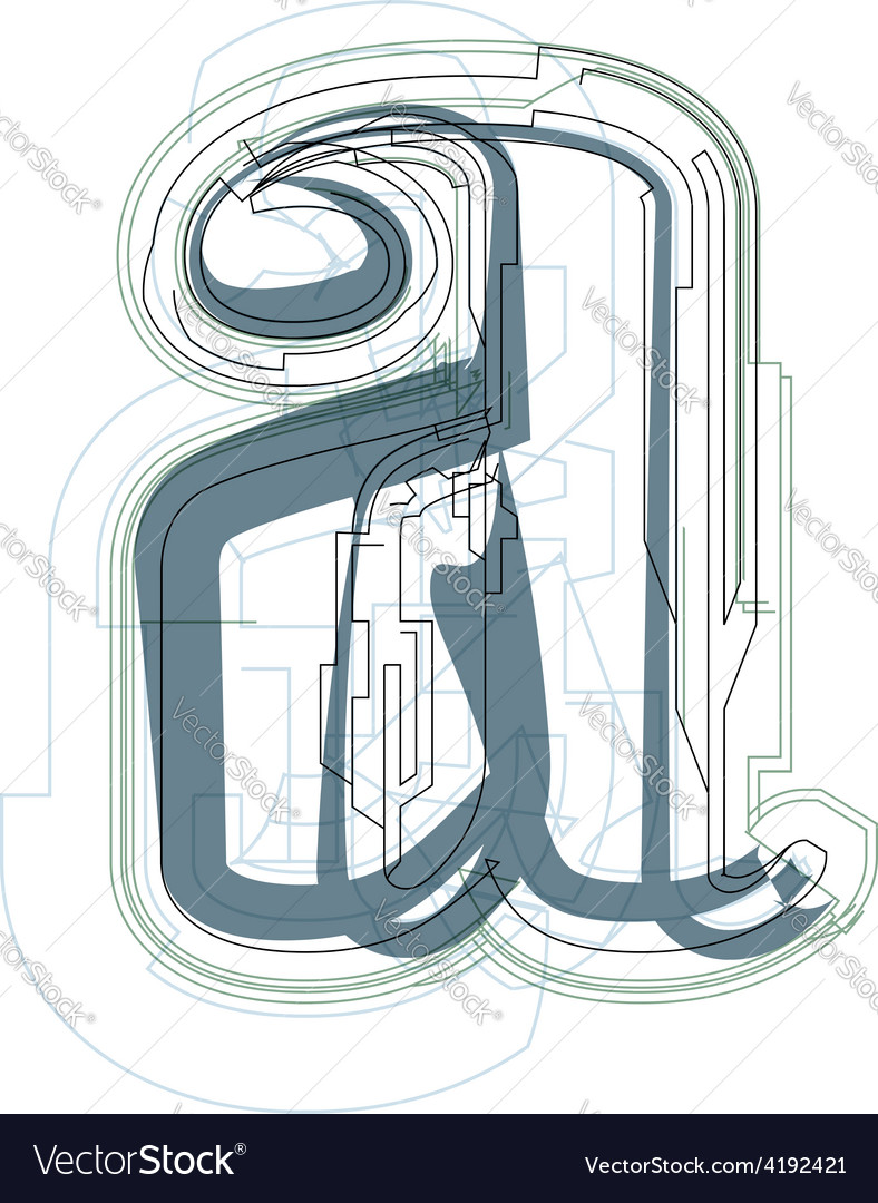 Font letter a vector | Price: 1 Credit (USD $1)