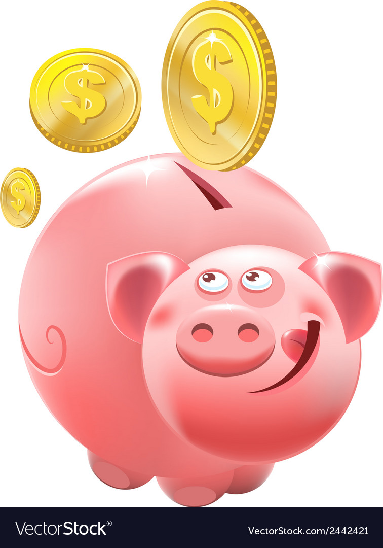 Full piggy bank vector | Price: 1 Credit (USD $1)