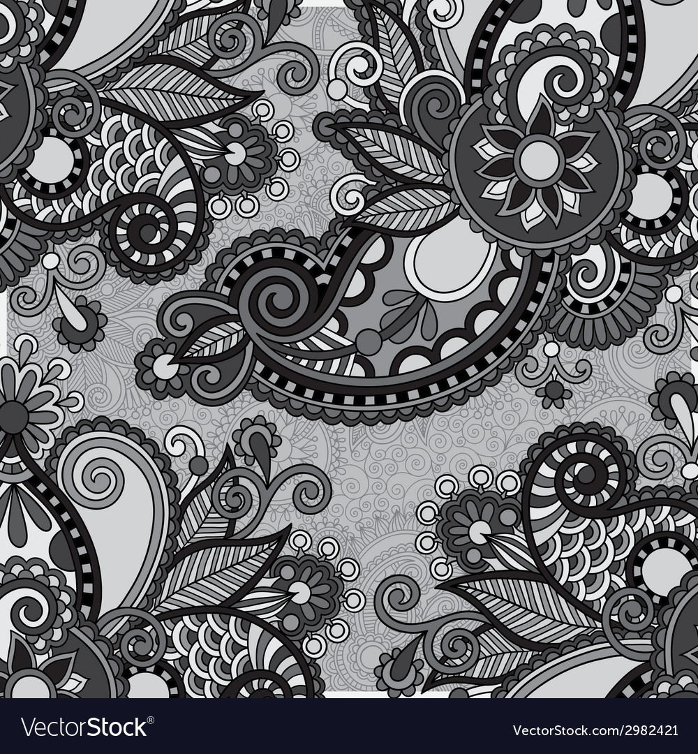 Grey vintage floral ornamental template on flower vector | Price: 1 Credit (USD $1)