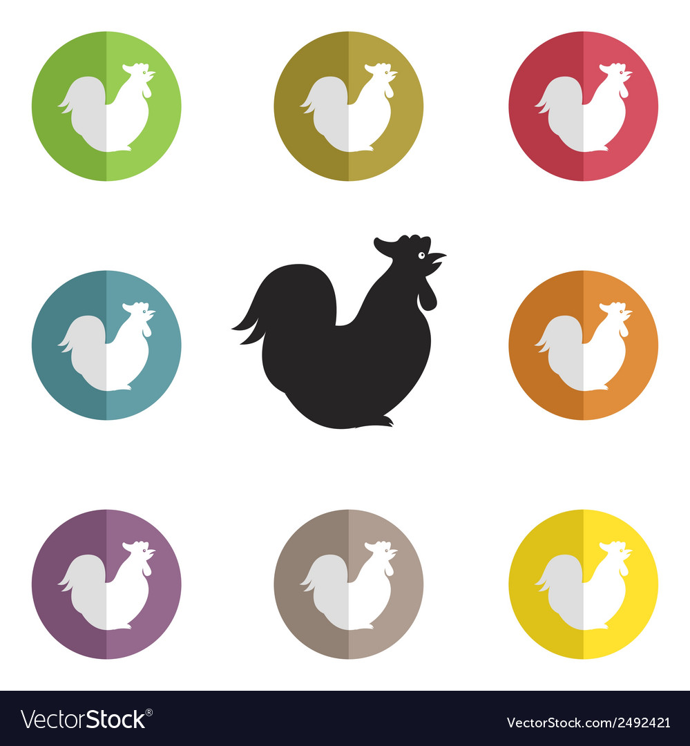 Group of cock vector | Price: 1 Credit (USD $1)
