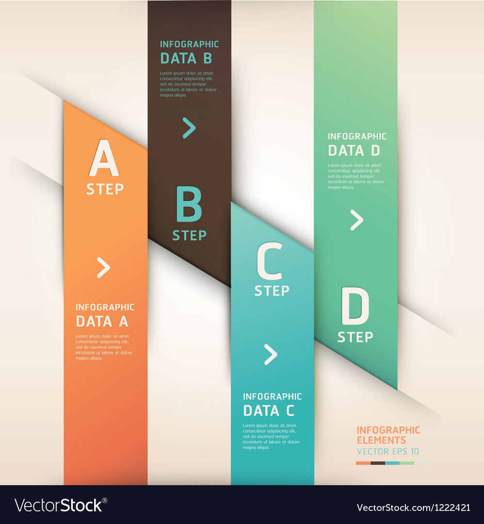 Modern origami options banner vector | Price: 1 Credit (USD $1)