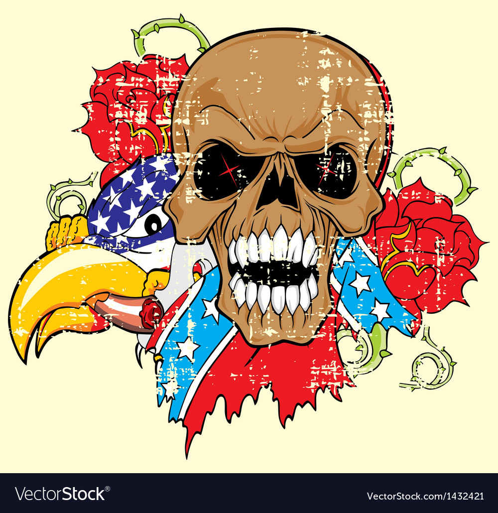 Vs 5floral skull vector | Price: 1 Credit (USD $1)
