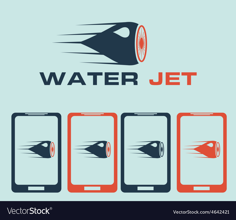 Water jet vector | Price: 1 Credit (USD $1)