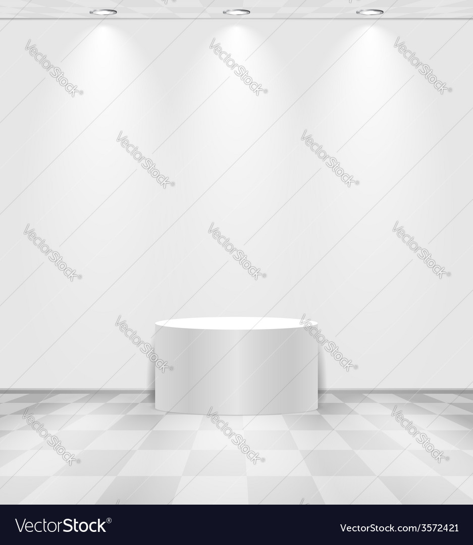 White room with round stage vector | Price: 1 Credit (USD $1)