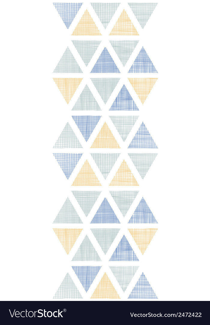 Abstract textile ikat triangles vertical seamless vector | Price: 1 Credit (USD $1)