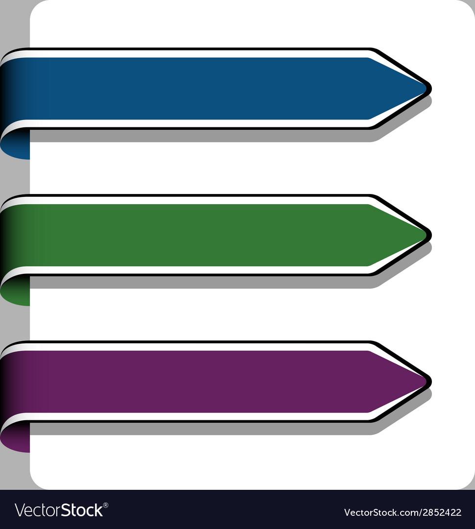 Arrow ribbon signs vector | Price: 1 Credit (USD $1)