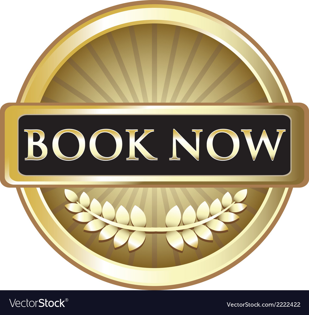 Book now vintage gold label vector | Price: 1 Credit (USD $1)