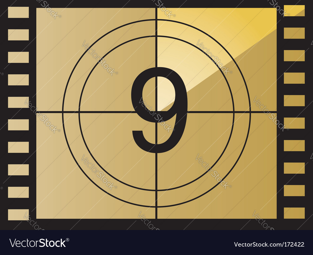 Film countdown number vector | Price: 1 Credit (USD $1)