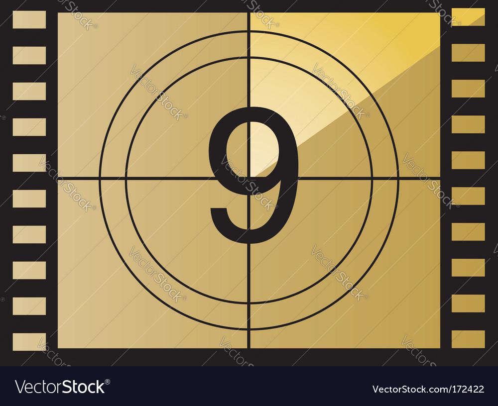 Film countdown number vector | Price: 1 Credit (USD $1)