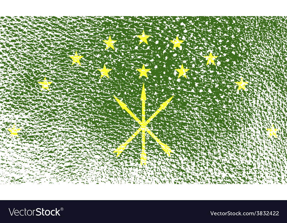 Flag of adygea with old texture vector | Price: 1 Credit (USD $1)