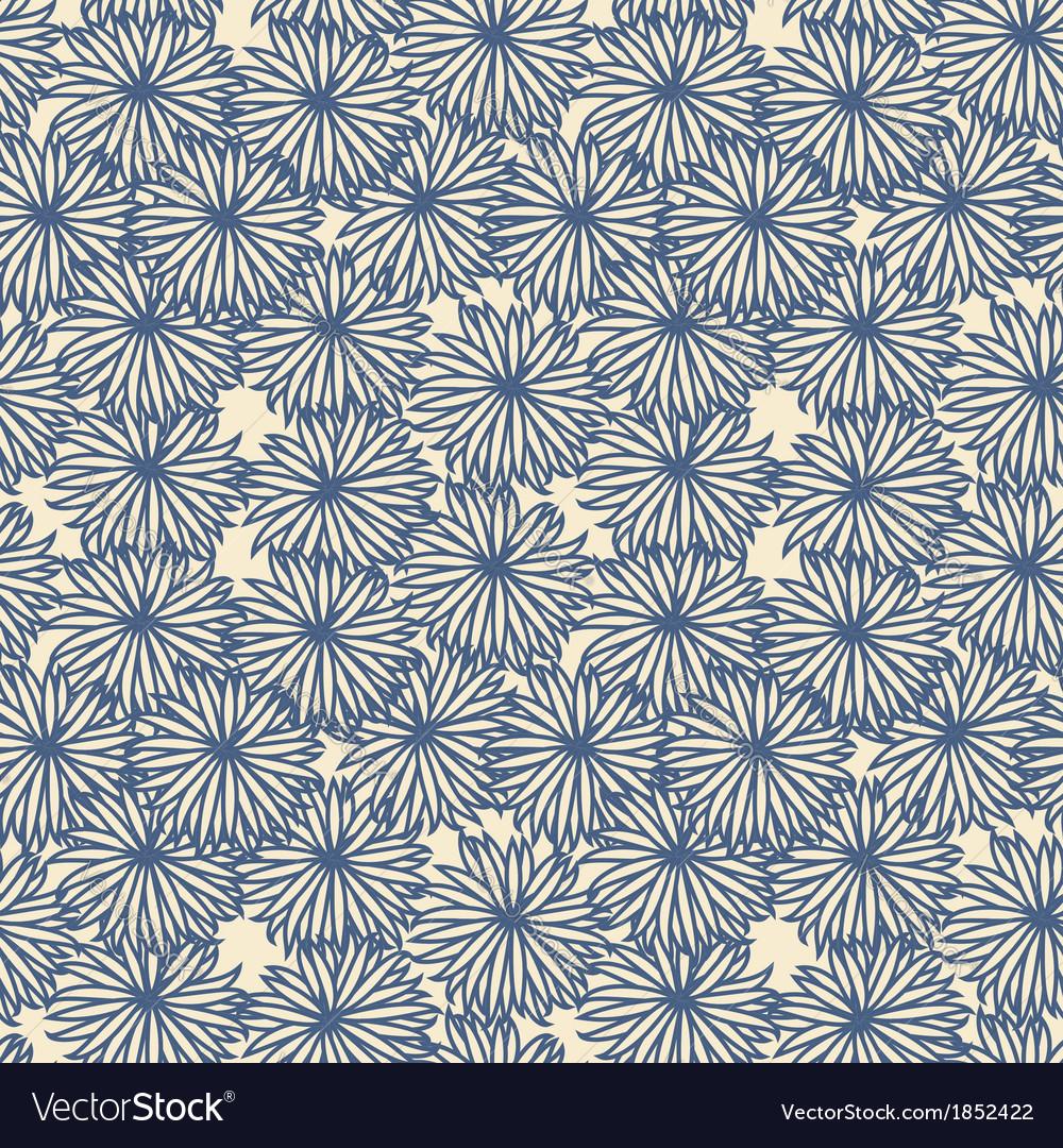 Flower pattern on beige background vector | Price: 1 Credit (USD $1)
