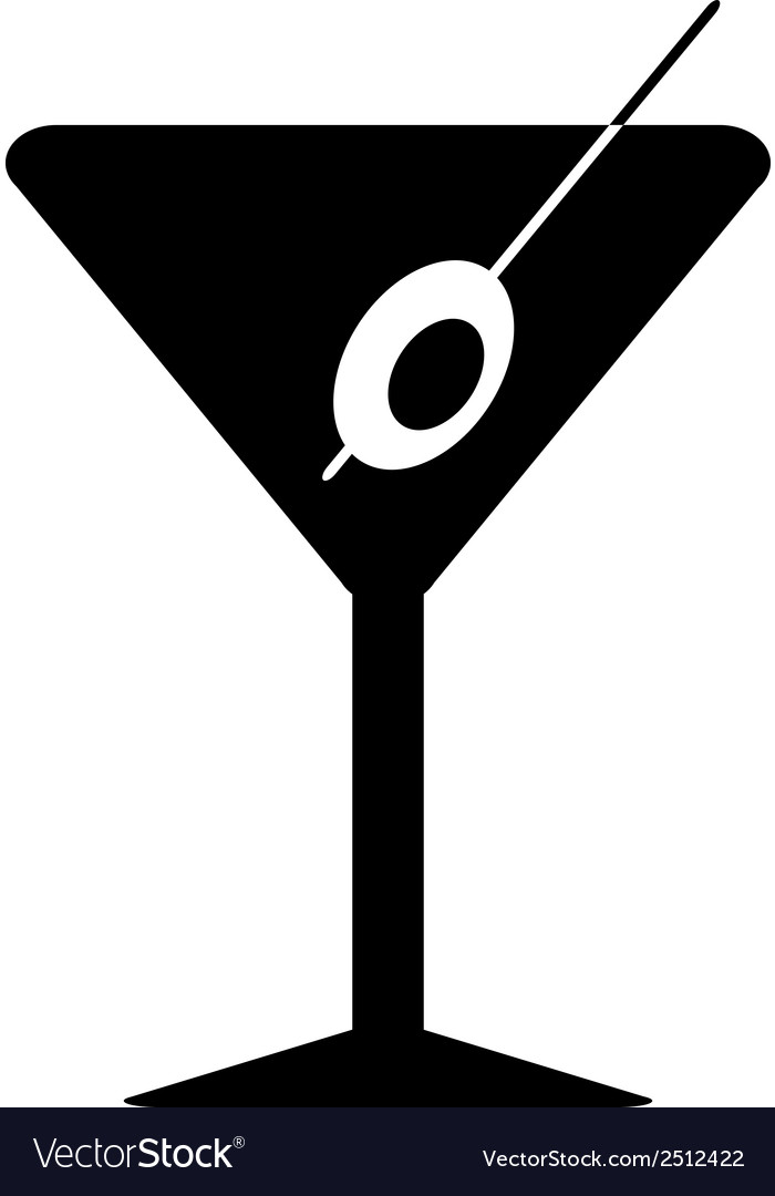 Martini glass vector | Price: 1 Credit (USD $1)