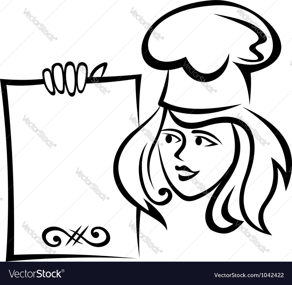 Restaurant chef with menu paper vector | Price: 1 Credit (USD $1)