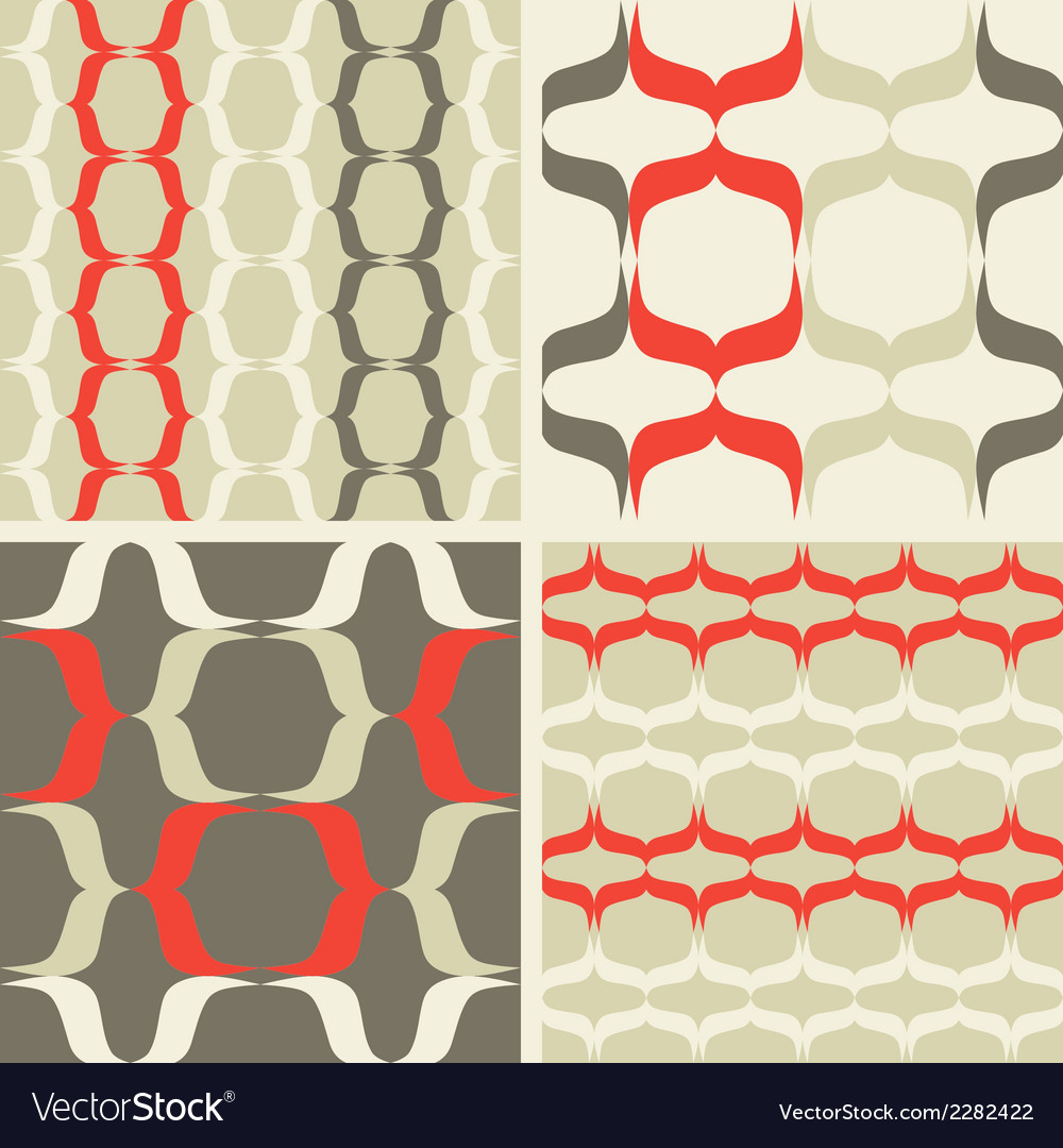 Seamless patterns waves vector | Price: 1 Credit (USD $1)