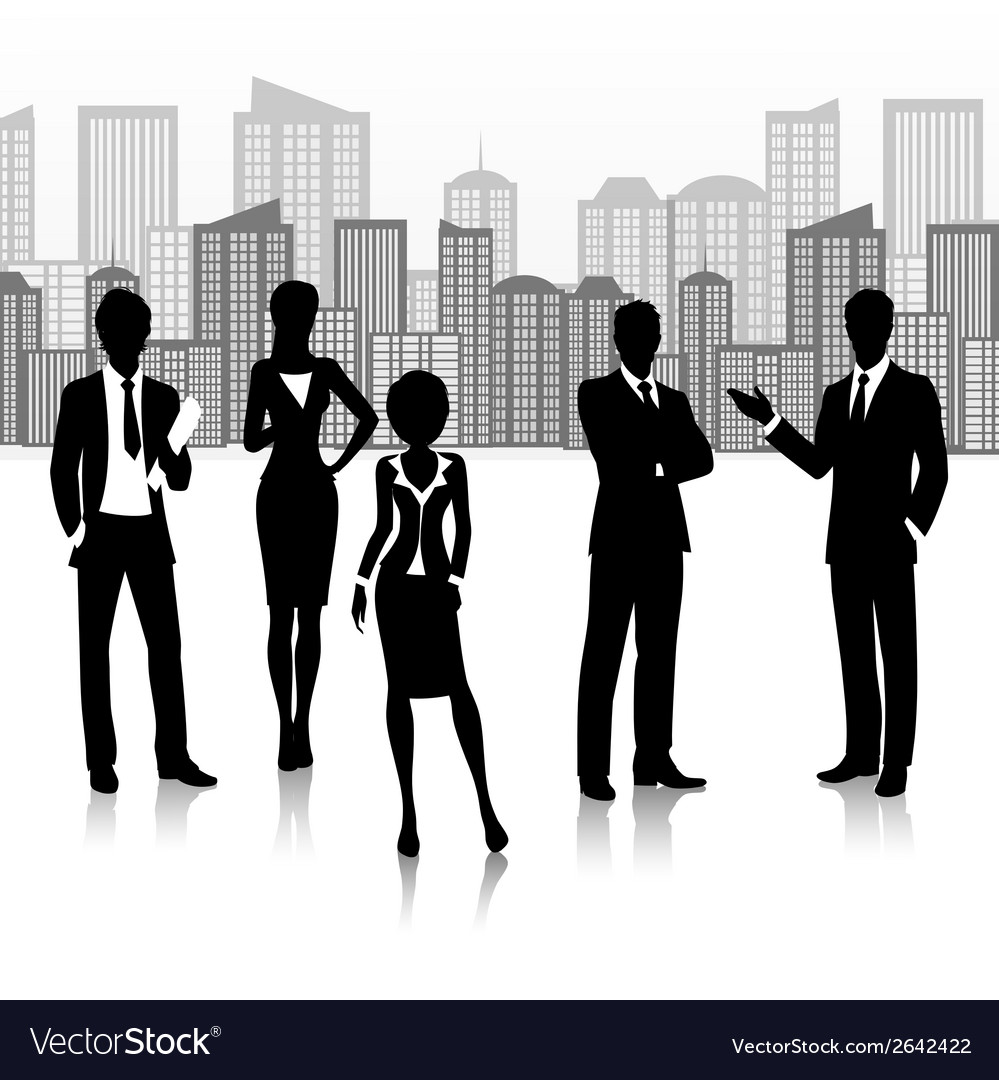 Silhouette business group vector | Price: 1 Credit (USD $1)