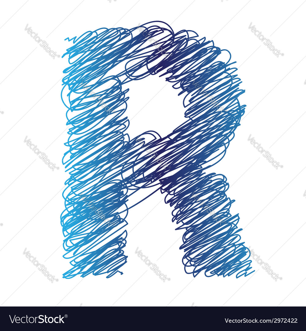 Sketched letter r vector   Price: 1 Credit (USD $1)