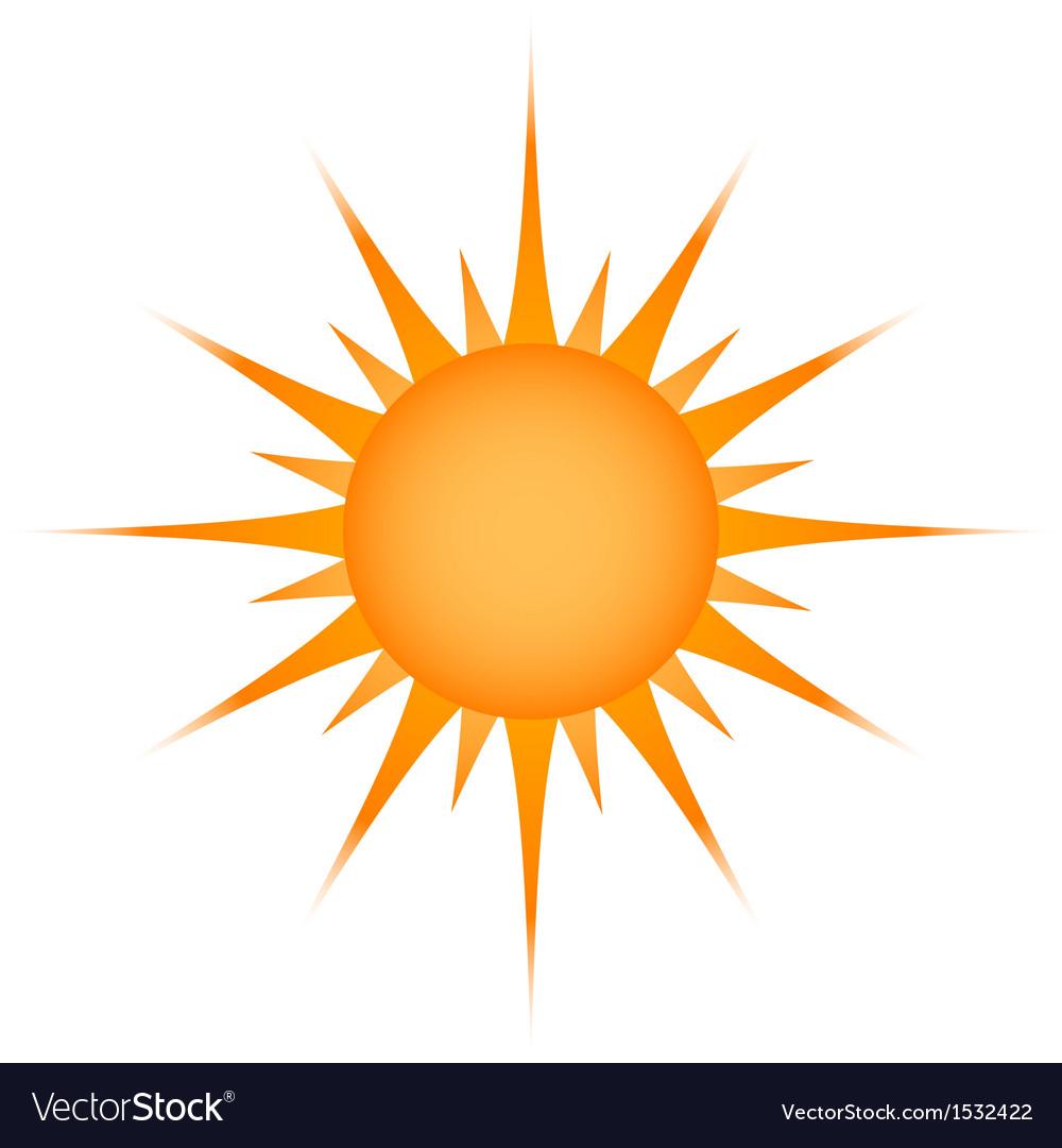 Sun over white  vector