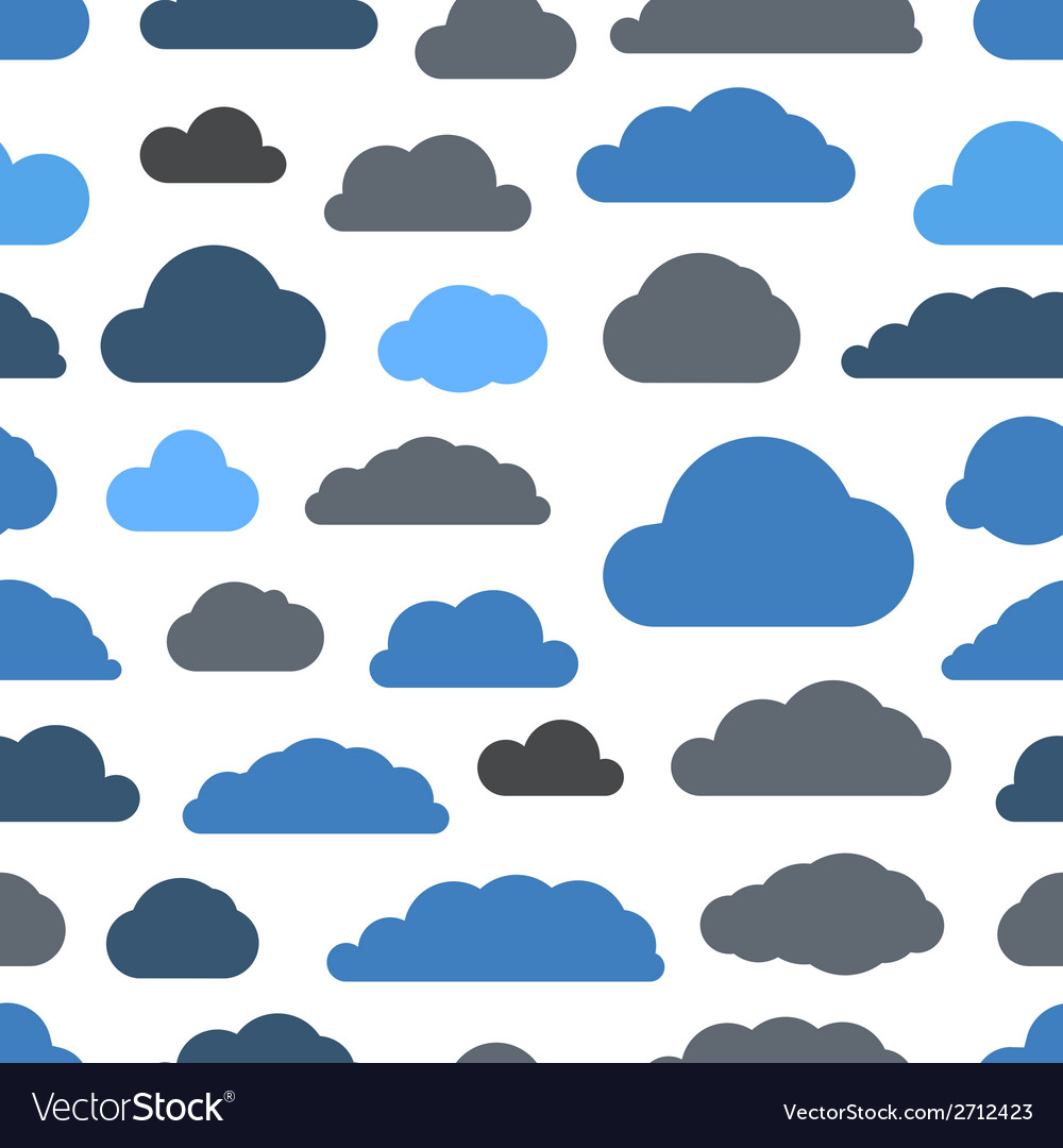 Abstract clouds seamless pattern vector   Price: 1 Credit (USD $1)