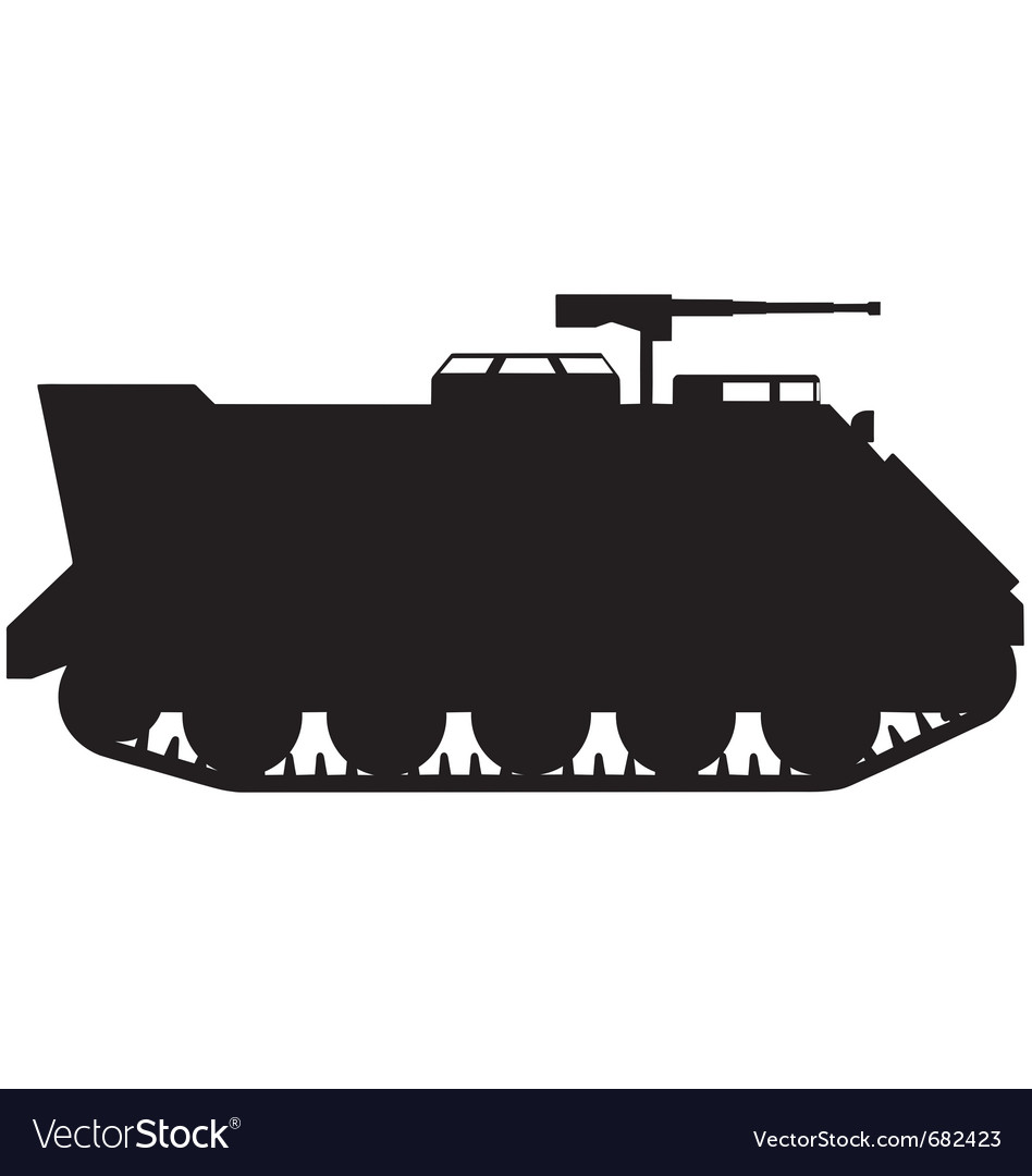 Armoured personnel carrier silhouette vector | Price: 1 Credit (USD $1)