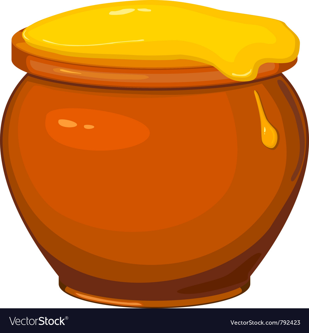Cartoon pot of honey vector | Price: 1 Credit (USD $1)