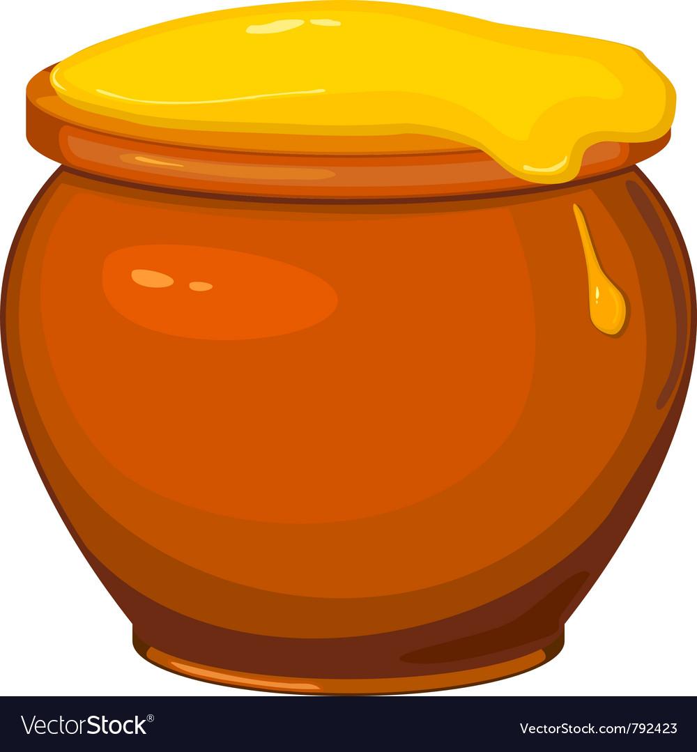 Cartoon pot of honey vector | Price: 1 Credit (USD $1)