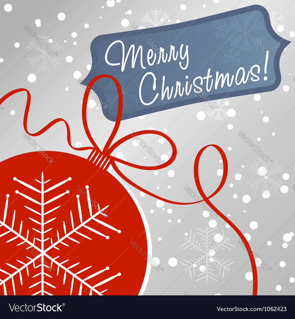 Christmas ball toy decoration card vector   Price: 1 Credit (USD $1)