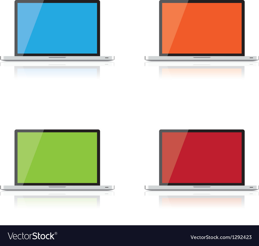 Computer screens vector | Price: 1 Credit (USD $1)