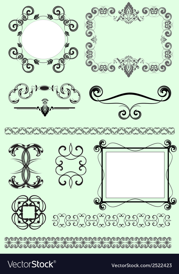 Decorative design elements vector | Price: 1 Credit (USD $1)