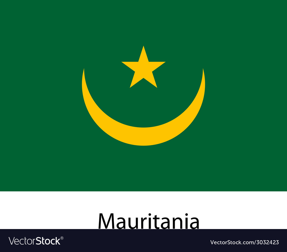 Flag of the country mauritania vector | Price: 1 Credit (USD $1)