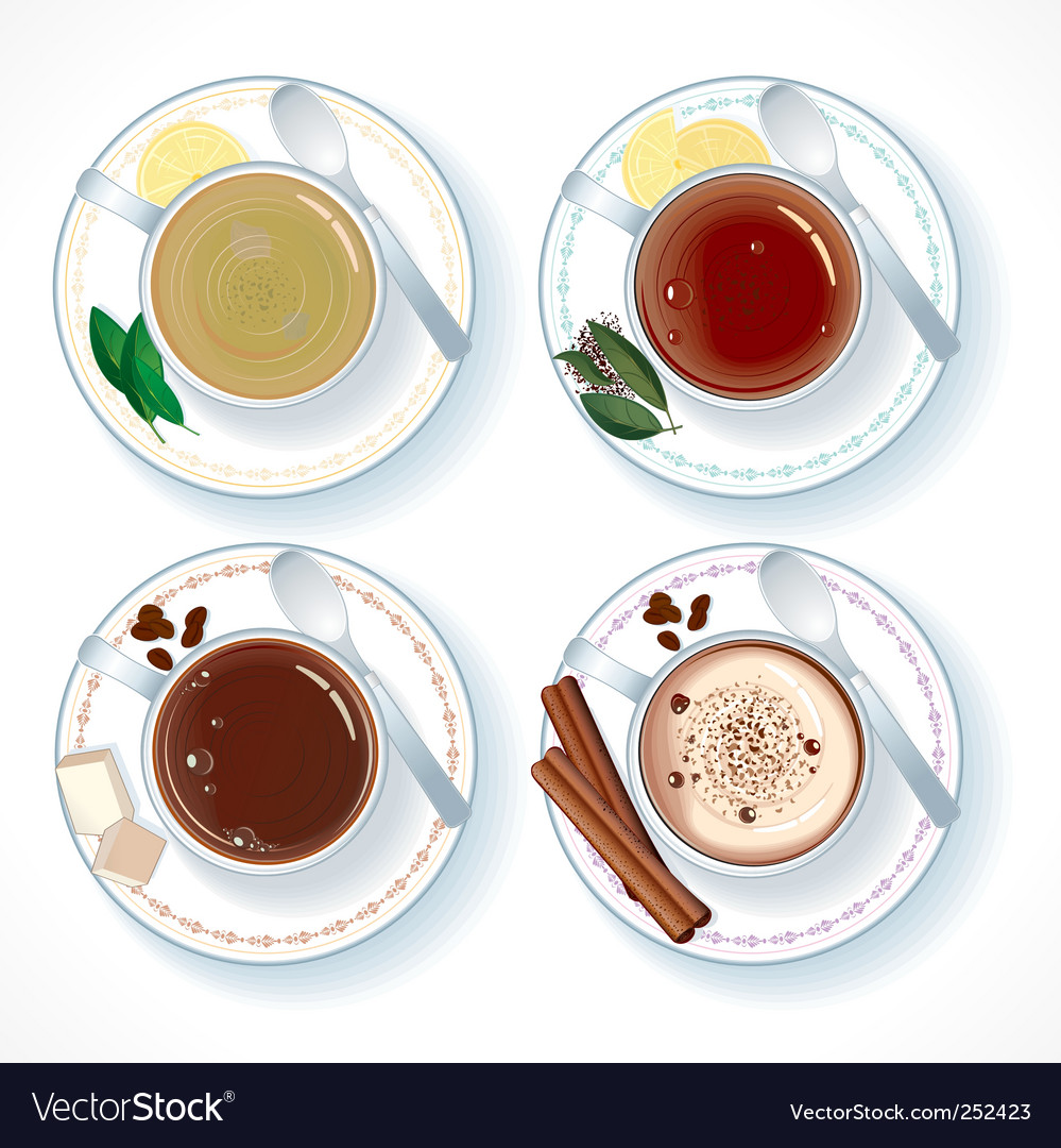 Hot drinks vector | Price: 3 Credit (USD $3)