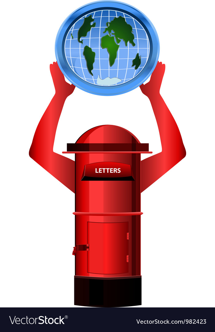 Post box and globe vector | Price: 1 Credit (USD $1)