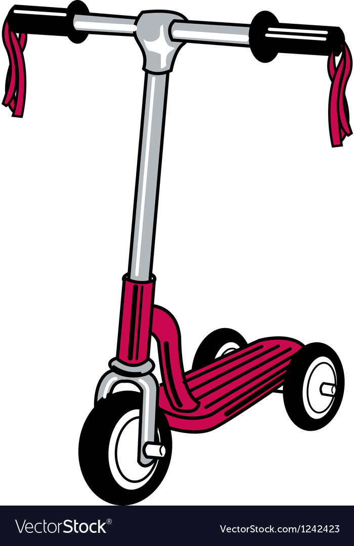 Push scooter vector | Price: 1 Credit (USD $1)