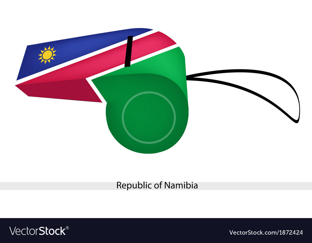 A whistle of the republic of namibia vector | Price: 1 Credit (USD $1)