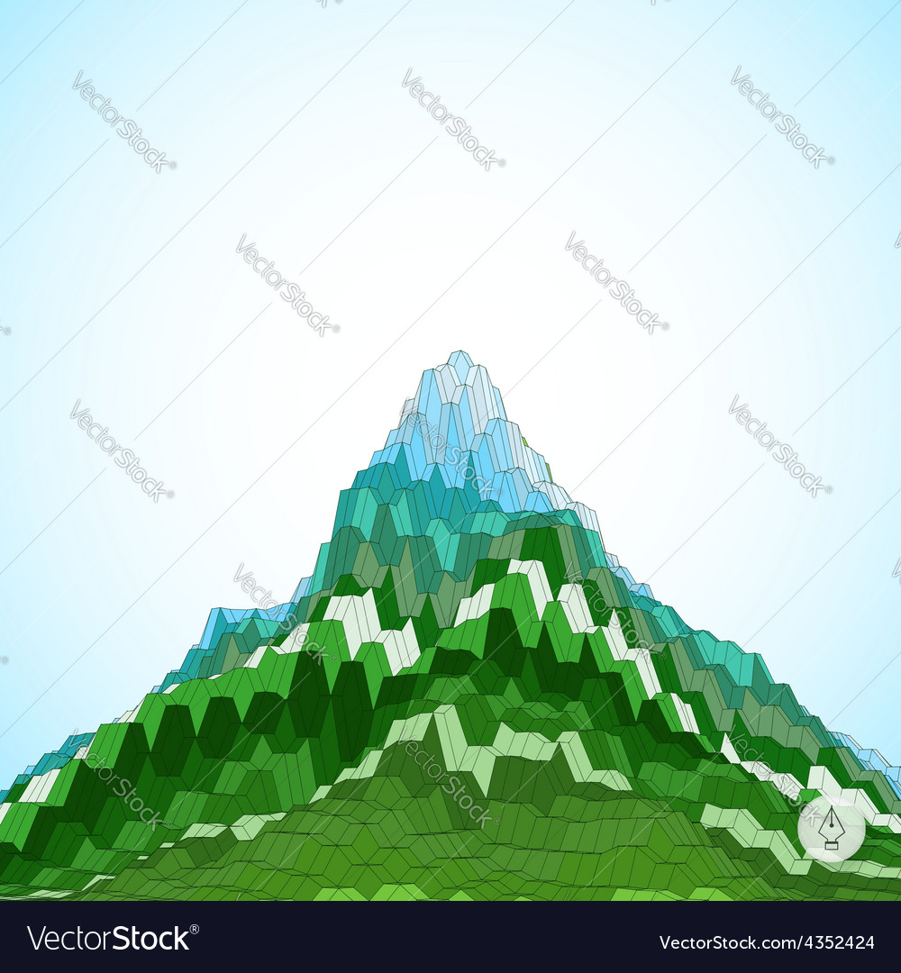 Abstract background with mountain mosaic 3d vector | Price: 1 Credit (USD $1)
