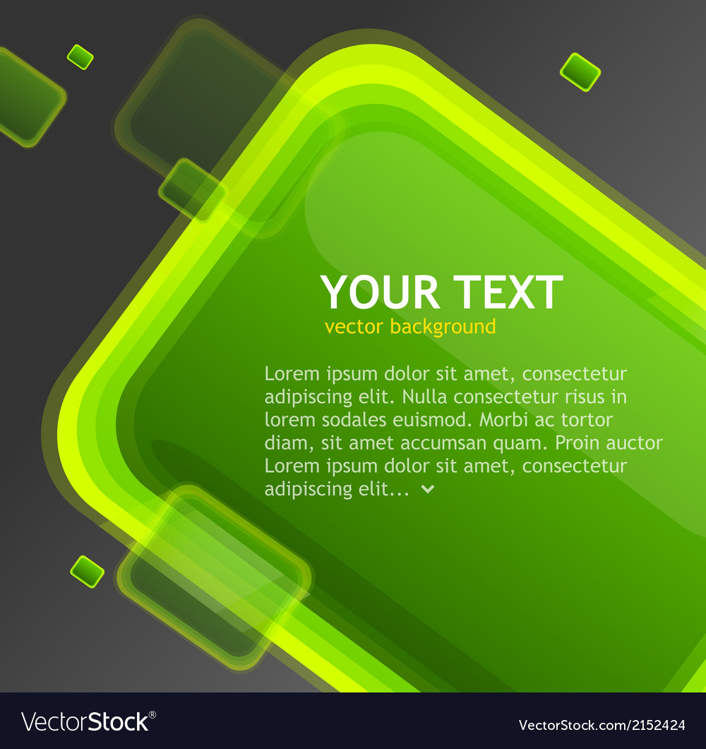Abstract green speech bubble vector | Price: 1 Credit (USD $1)