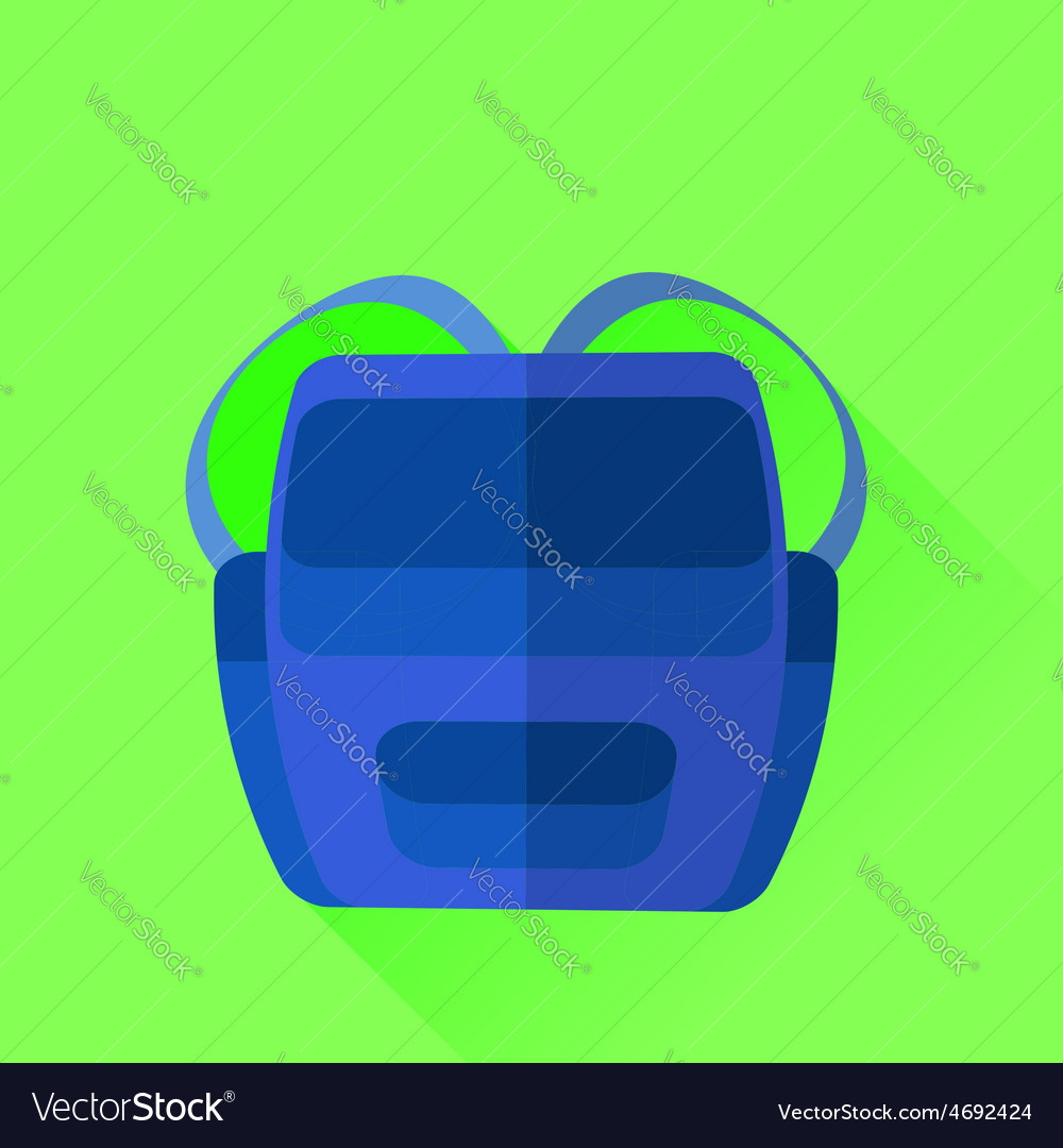 Blue backpack vector | Price: 1 Credit (USD $1)