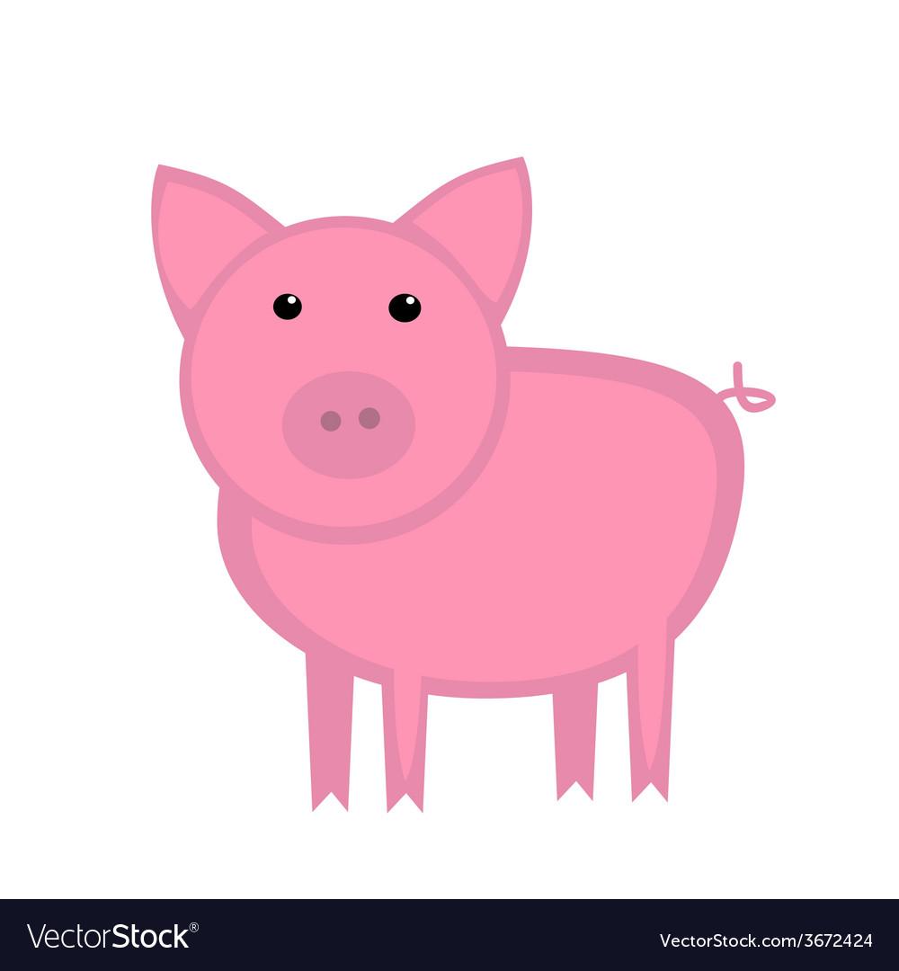 Cartoon pig vector | Price: 1 Credit (USD $1)