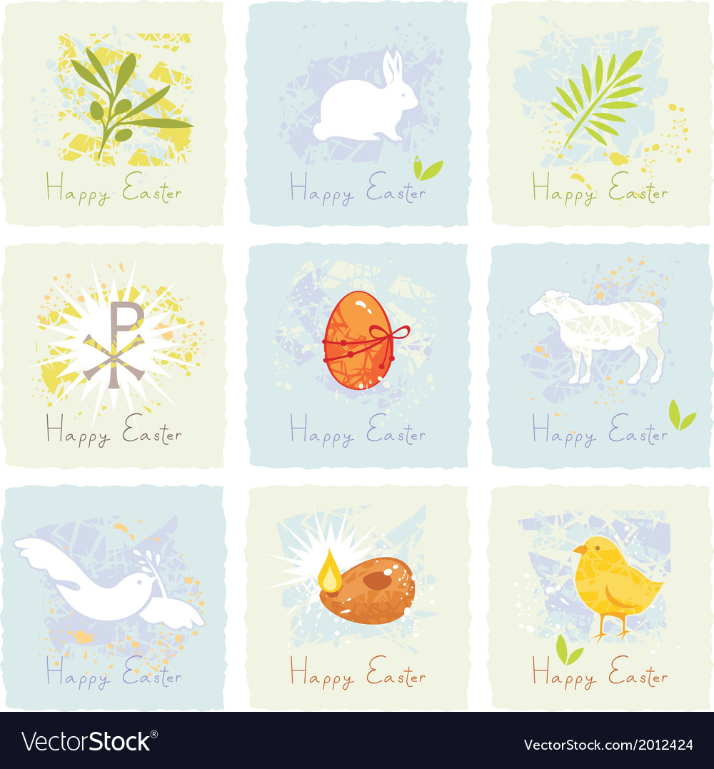 Easter symbols set vector | Price: 1 Credit (USD $1)
