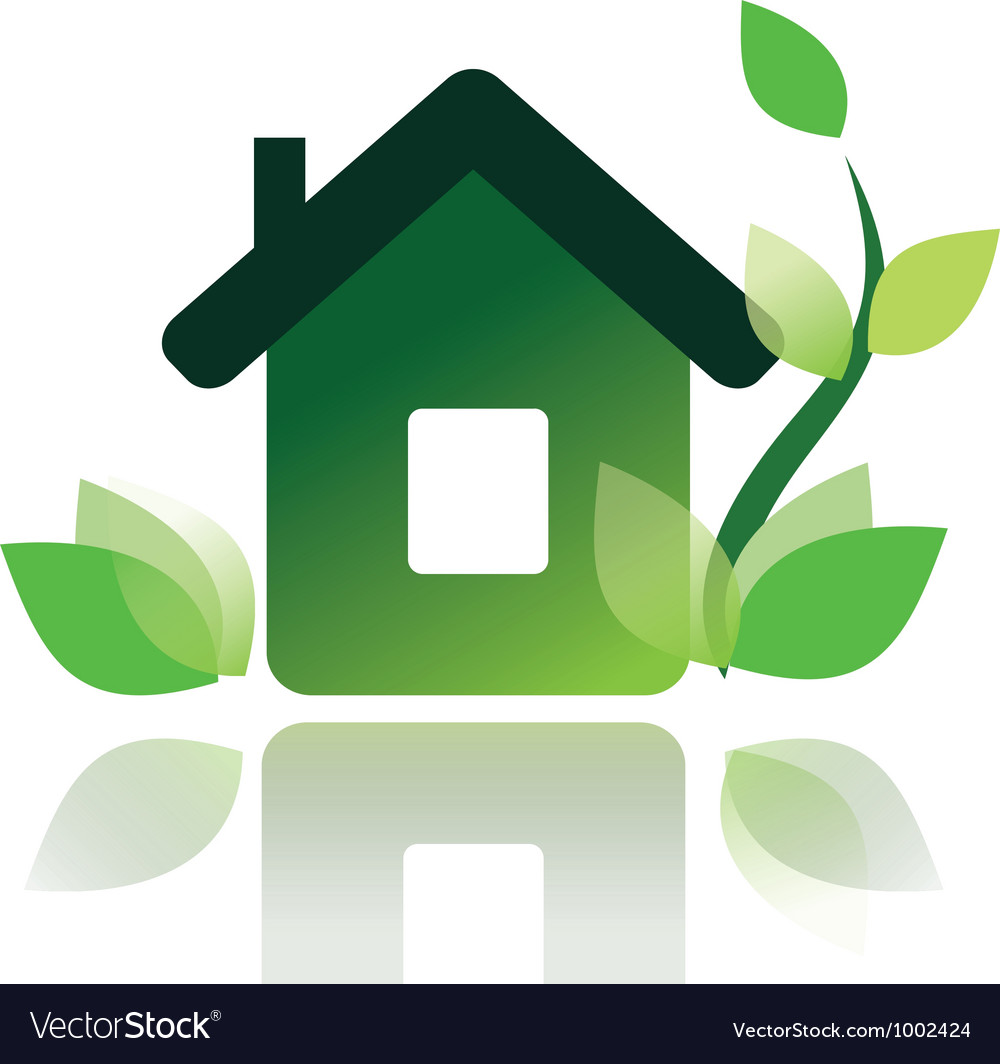 Eco home icon isolated symbol vector | Price: 1 Credit (USD $1)