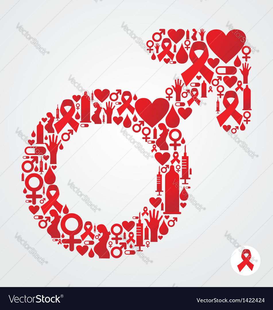 Hiv male symbol vector | Price: 1 Credit (USD $1)