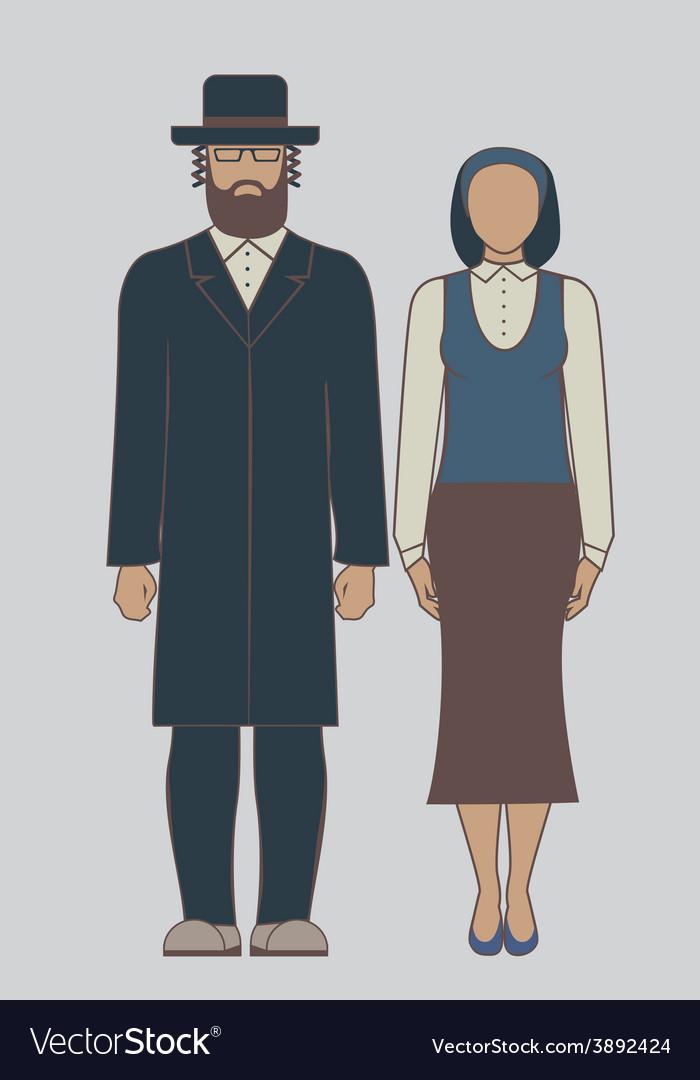 Jew couple vector | Price: 1 Credit (USD $1)