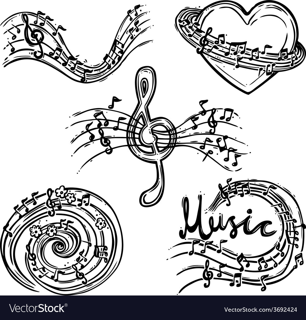 Music abstract set vector | Price: 1 Credit (USD $1)