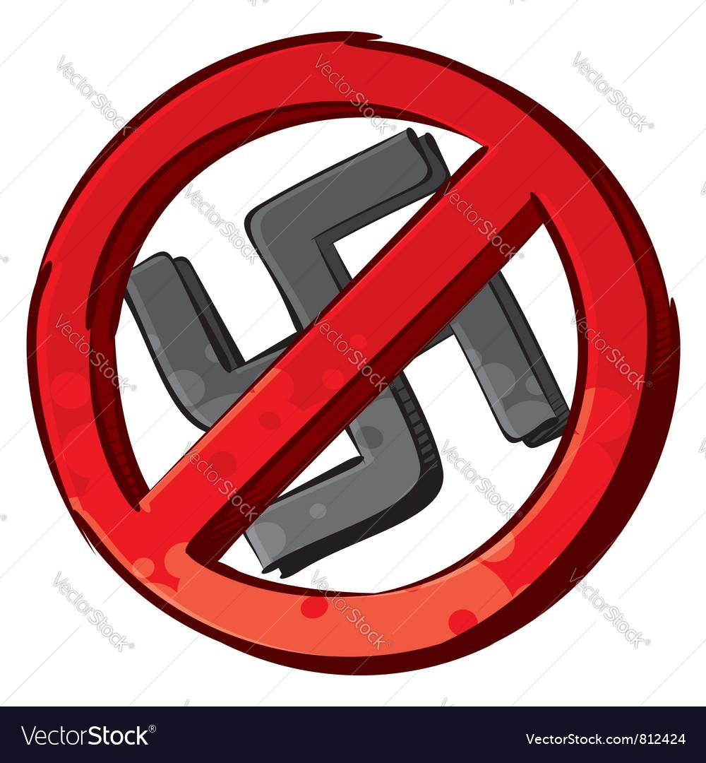 No nazi symbol vector | Price: 1 Credit (USD $1)