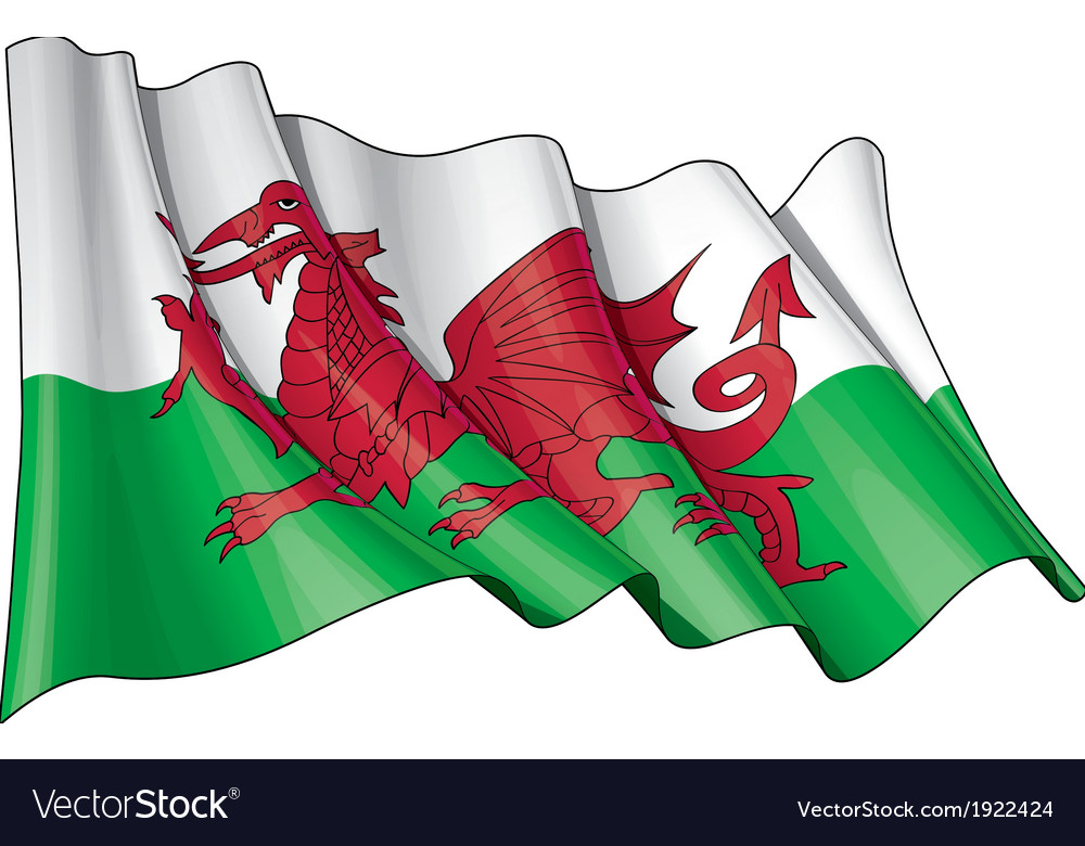 Wales flag grunge vector | Price: 1 Credit (USD $1)