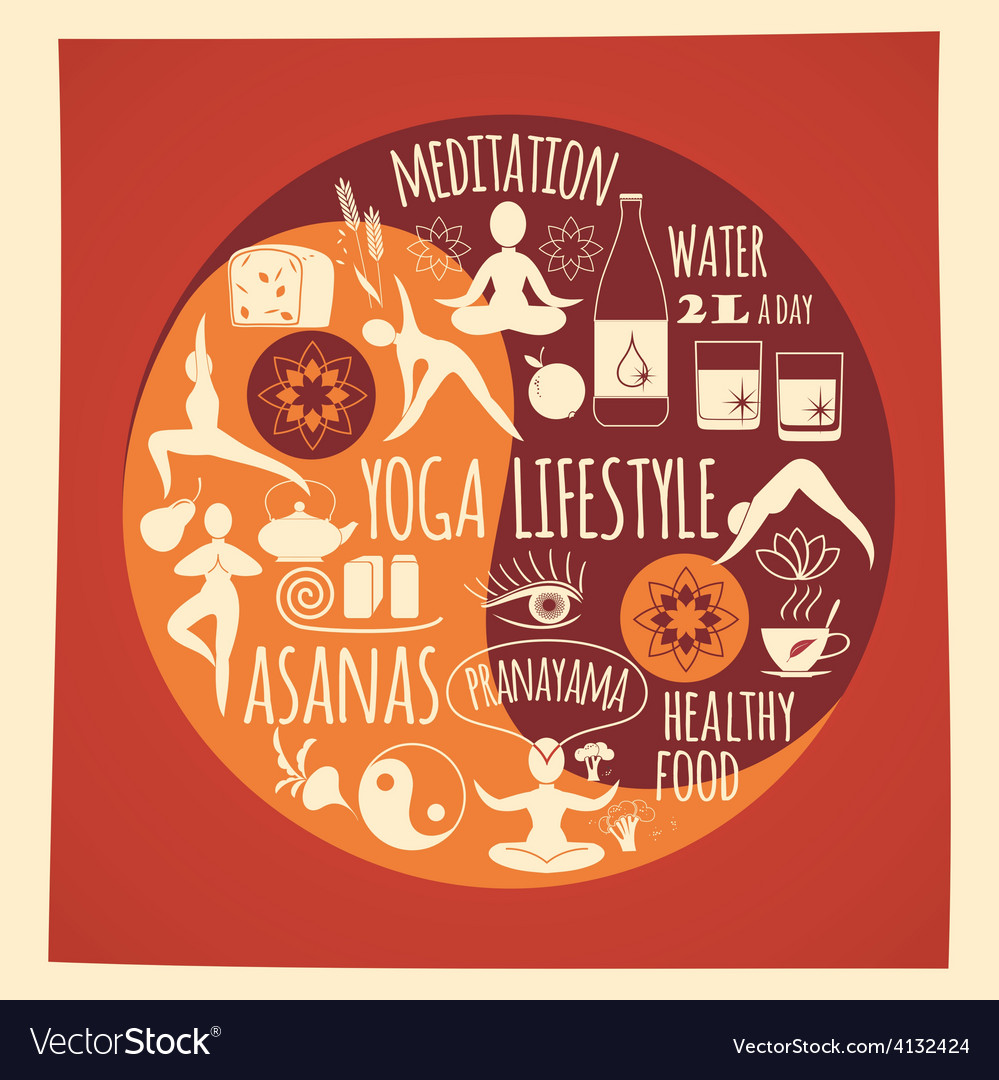 Yoga lifestyle vector | Price: 1 Credit (USD $1)