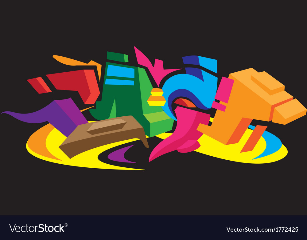 3d graffiti design vector | Price: 1 Credit (USD $1)