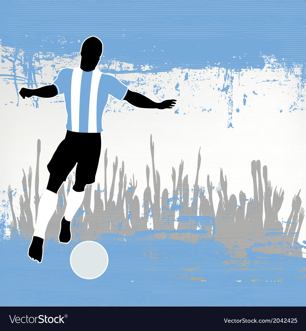 Argentina football vector | Price: 1 Credit (USD $1)